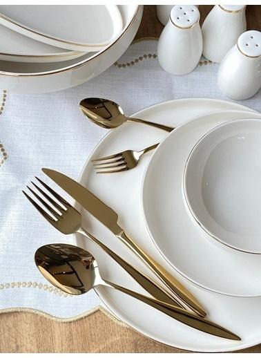 ROSSEV Yemek Takımı Modern Gold 117 Parça 12 Kişilik Renkli